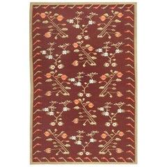 Vintage Flat-Woven Bessarabian Kilim Rug