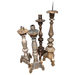 Grand Antique 18th Century French Alter Candlesticks or Candelabra Prickets