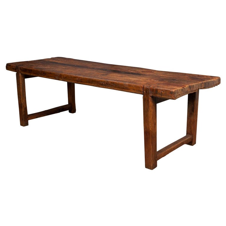 c1fcc669c74b French 18th Century or Earlier Oak Farmhouse Table For Sale at 1stdibs