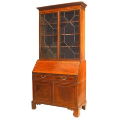 English Sheraton Mahogany Secretary