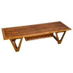 Rectangular Walnut Coffee Table by Lane of Altavista, Virginia