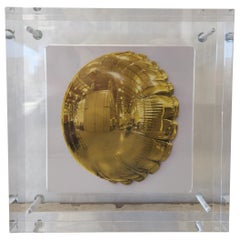 "Original Jeff Koons Signed Exhibition Invite ""Moon Yellow"", Sotheby's"