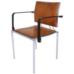 Schweizer Sessel Quadro Stahl von Bruno Rey & Charles Polin für Dietiker, 1990er Jahre
