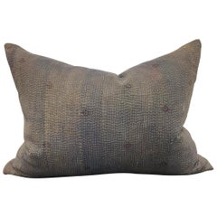 Indian Kantha Cloth Pillow