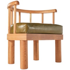 Oiled White Oak Spindle Back Bone Chair by Casey McCafferty