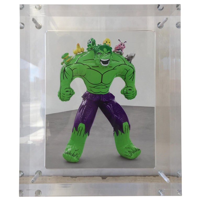 "Original Jeff Koons Exhibition Announcement ""Hulk Elvis"" by Gagosian Gallery For Sale"