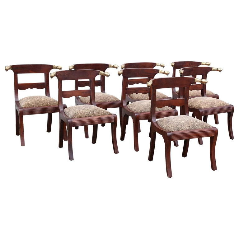 Artist's Designed and Crafted Dinning Chairs for Hunting Lodge in National Park For Sale
