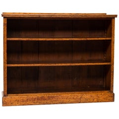 English Open Front Bookcase