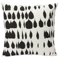 Schumacher Queen of Spain Midcentury Black White Pillow, 1stdibs New York