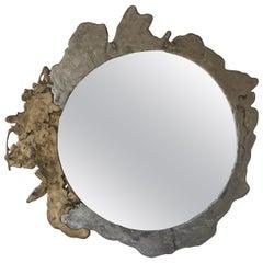 Silas Seandel Signed Oversized Brutalist Mirror