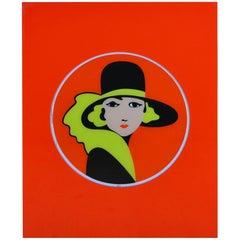 1970er Jahre Lucite Werbeschild für Belga Cigarettes Belgien