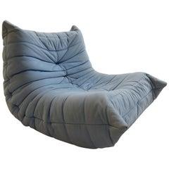 Vintage Togo Sofa Stuhl von Michael Ducaroy für Ligne Roset in Hellblau