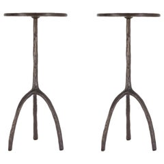 Pair of Trepied Drinks Tables by Christian Liaigre