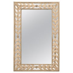 French Reproduction Painted Wall Mirror