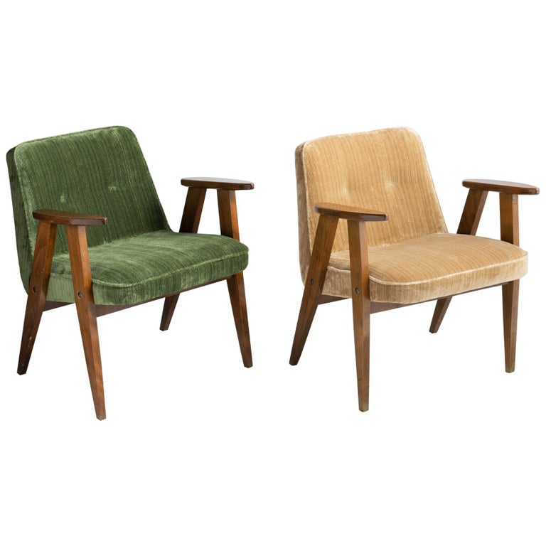 366 Armchairs by Jozef Chierowski, Poland, circa 1960 For Sale