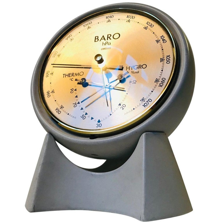 Danish Space Age Pottery Desk Weather Station from Søholm, 1970s For Sale
