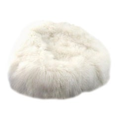 Natural White Kids Size Mongolian sheepskin Bean bag chair -  Made in Australia