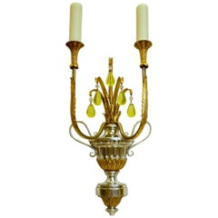 Pair of Urn Form Two-Light Sconces by E. F. Caldwell