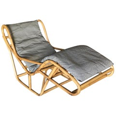 Single-Strand Two-Position Rattan Chaise Lounge