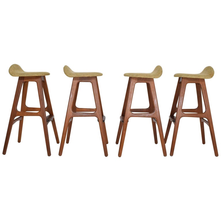 Four Bar Stools Model Od61 Designed By Erik Buch And