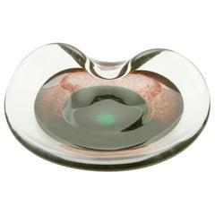"Biomorphic Hand Blown Glass Bowl ""Selandia"" by Per Lutken for Holmegaard"