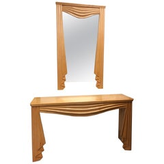 Hollywood Regency Console and Matching Mirror