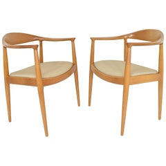 Pair of Hans Wegner Round Chairs