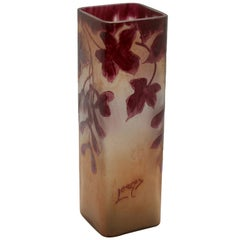 Signiert Legras Rubis Serie Glasvase, 1900 1914