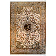 Unbelievable Vintage Century Tabriz Silk Rug