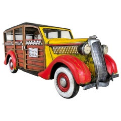 """Woodie Wagon Brooklyn Taxi"" Sculpture by Paul Jacobsen"