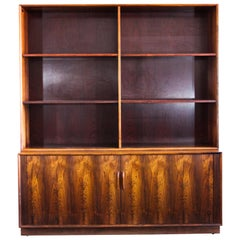 Midcentury Rosewood Arne Vodder Book Case with Tambour Doors by Sibast, 1950s