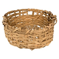 Early 20th Century Primitive Splint Basket