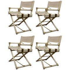 Set of Four Vintage Directors Chairs by John McGuire