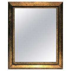 Early 20th Century Black and Gold Framed Mirror