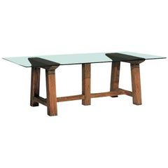 Ralph Lauren North Atlantic Coast Dining Table with Glass Top