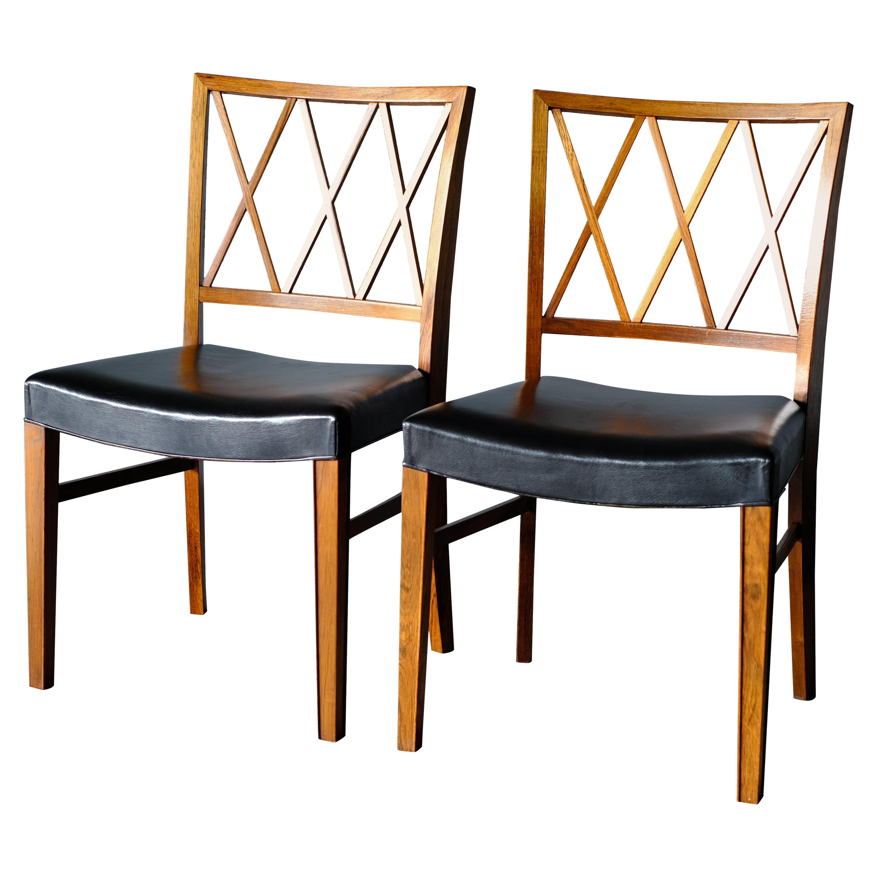 Ole Wanscher, Pair of Chairs, Rosewood