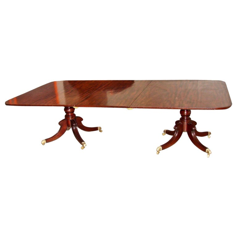 Regency Mahogany Dining Table with Single Leaf For Sale