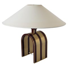 1960s Romeo Rega Solid Brass Table Lamp, Italia