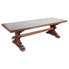 French Oak Normandy Monastery Trestle Table