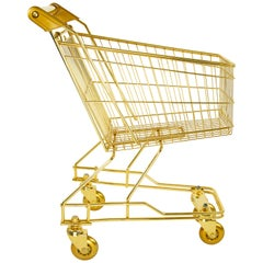 'KID'S Cart' 22K Gold, steel & bronze, limited edition by Christopher Kreiling