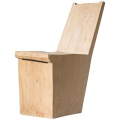 Hiroyuki Nishimura and Zogei Furniture Sculptural wood Chair glamping