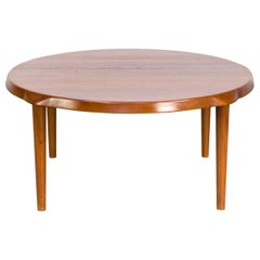 1960s John Boné Teak Round Coffee Table for Mikael Laursen