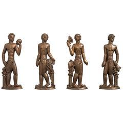 Stig Blomberg Reliefs in Bronze by ASEA in Sweden
