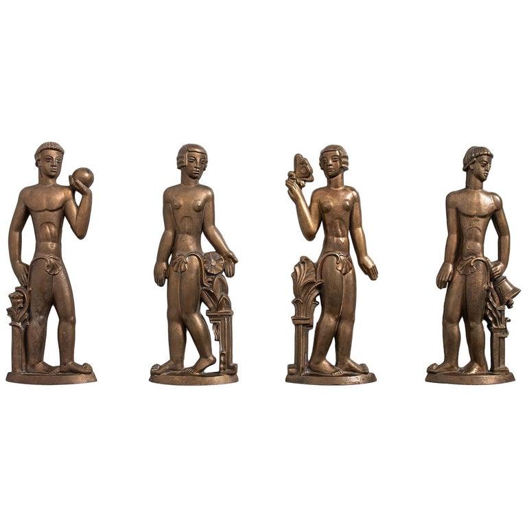 Stig Blomberg Reliefs in Bronze by ASEA in Sweden For Sale