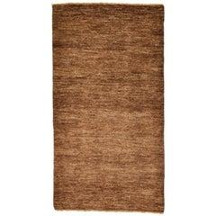 Minimalist Brown Afghan Carpet or Rug
