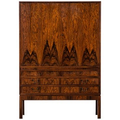 Rosewood Cabinet Produced by Cabinetmaker C.B. Hansen in Denmark