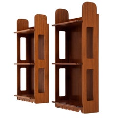 Josef Frank Wallhanged Bookshelves in Mahogany by Svenskt Tenn in Sweden