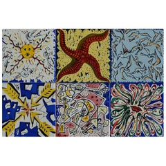 "Salvador Dali ""La Suite Catalane"" Set of 6 Dali Tiles, 1954"