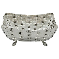 Edwardian English Sterling Silver Bread Dish