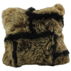 Treasure Black and Gold Sheepskin Pillow, Made in Australia